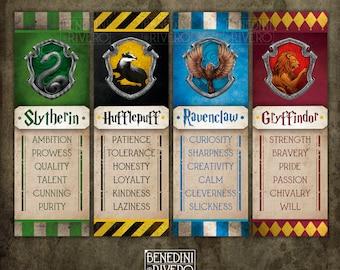 Hogwarts Houses Gryffindor Slytherin Hufflepuff Ravenclaw Logo