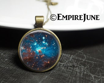 Cosmic Space Galaxy Star Jewelry Necklace, Geekery Universe Star Nebula Necklace, Science Geekery, Geekery Jewelry Necklace Pendant Cosmic