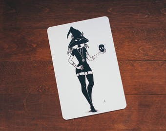 Demon witch - card size print