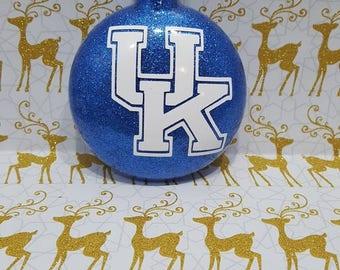 UK Ornament, Kentucky Wildcats Ornament, UK Wildcats, UK Glitter ornament, Kentucky ornament, University of Kentucky, Ornament Exchange