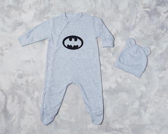 Batman baby etsy batman gray baby onepiece batman gray baby pj batman baby gift for newborn negle Choice Image
