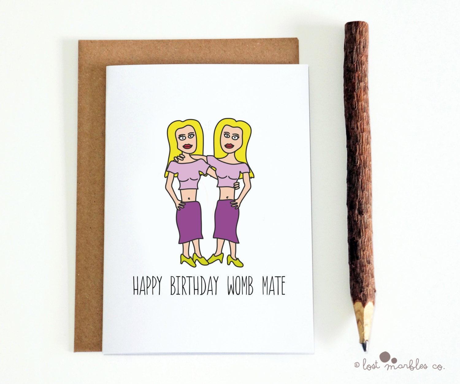 Cute birthday card twins birthday card her birthday card zoom kristyandbryce Gallery