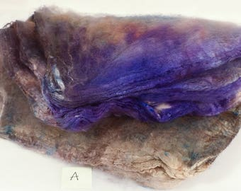 Hand- dyed  silk hankies -  ( 1.2  oz.)