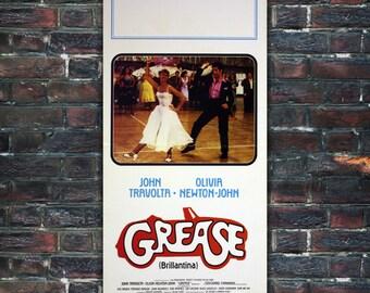 Original Movie Poster Grease - 33x70 CM - John Travolta, Olivia Newton-John