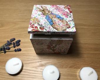 Peter Rabbit Decoupage Trinket Box