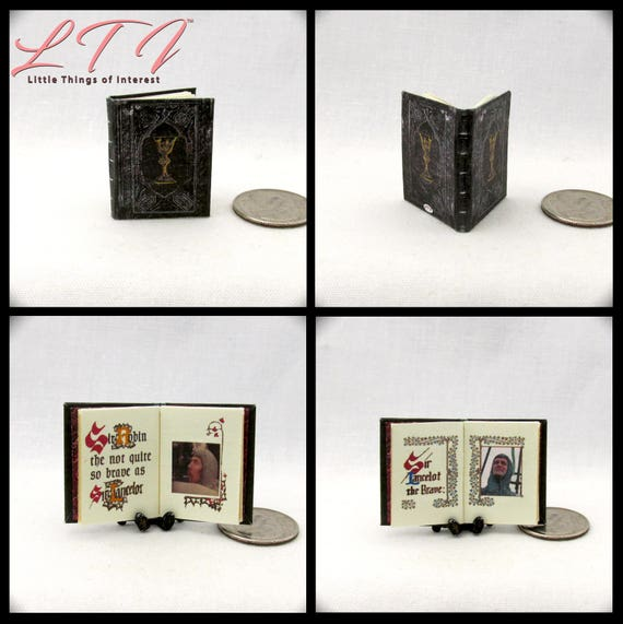 The HOLY GRAIL Miniature Book 1:12 Scale Dollhouse Movie Knights Round Table Lancelot Galahad Sir Robin Sir Not Appearing in this film.
