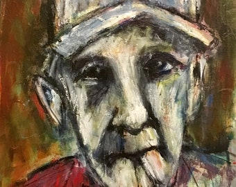 Figurative Painting of Old Man
