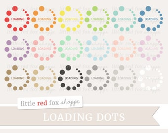 Loading Symbol Clipart, Polka Dots Clip Art Computer Circle Social Media Load Icon Cute Digital Graphic Design Small Commercial Use
