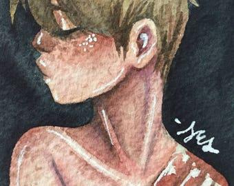 Persisting~ Original Watercolour ACEO