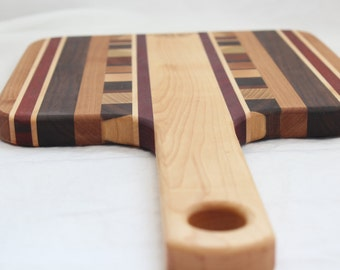 Handmade Square Cutting Board with handle