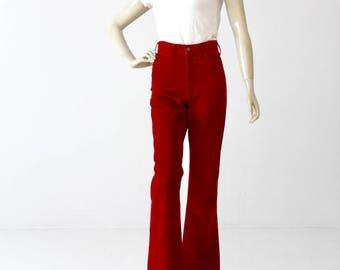 vintage Levis corduroys, 70s cords high waist flare leg, 30 x 34