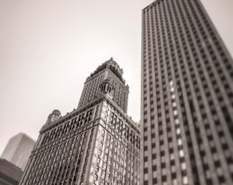 Chicago Photography, Downtown Chicago, Street Photography, Black and White Photography, Fine Art Photography - Chicago Buildings