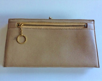 CLEARANCE Vintage Faux Leather Kisslock Wallet Coin Purse Clutch Organizer