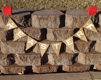 Easter Lamb Banner Easter Garland Easter Party Decor Easter Home Decor Easter Burlap Banner Easter Burlap Garland Easter Photo Prop