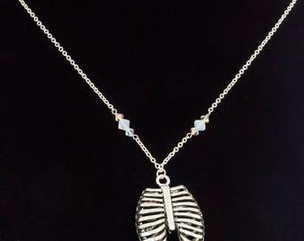 3D Ribcage Necklace- Medical- Nurse- Doctor - Zombie- Biologist - Science