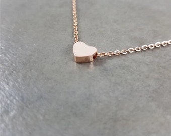 Stainless Steel Heart Pendant with Chain Necklace