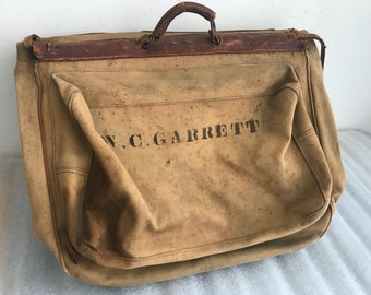 Real vintage travel bag .
