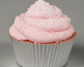 Pink Champagne Cupcake Bath Bomb