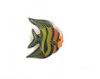Fish pin,  animal pin, lapel pin, fish brooch,fish jewelry, fish, pin badge, animal brooch, fish badge, animal badge, vintage fish pin