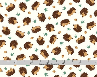 Hedgehog Fabric, Woodland Animal Quilt Fabric, Studio E Camp-A-Long Critters 4008 44, Camp A Long, Hedgehog Quilt Fabric, Cotton Yardage