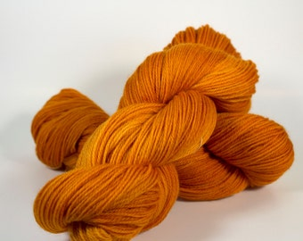 """Pumpkin colorway on my """"Comfort"""" base/ 434yds of fingering weight"""