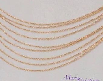 1.50 mm gold plated chain - Base stainless steel