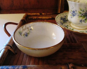 Royal Albert July Forget-Me-Not Pin Dish, Flower of the Month, English Porcelain Trinket Dish, Mother's Day Gift, Vanity Decor