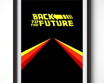 Back to the Future Poster, Minimalist Poster, Marty Mcfly, 1980's