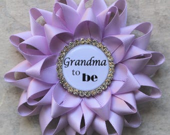 Purple Baby Shower, Lavender Baby Shower Decorations, Baby Girl Shower, Grandma to Be Pin, Girl Baby Shower Pins, Orchid, Lilac
