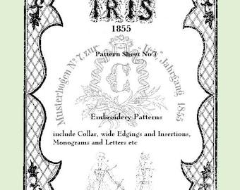 Iris Fashion Pattern 1855, No 7,  full size reprint