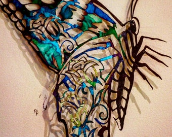Metal Butterfly Laser Cut Art Wall Decor
