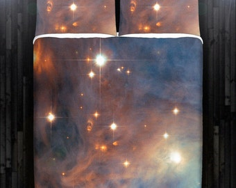 Nebula Galaxy Planet Outer Space Bedding Duvet Cover Queen Comforter King Twin XL Size Blanket Sheet Set Baby Crib Toddler Daybed Kids Bed