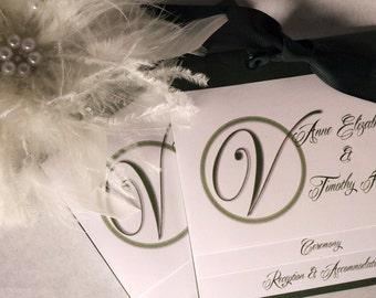 Layered Wedding Invitation - WE Customize YOU Print - Initial Design