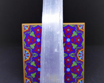 Selenite Slab -crystals and gemstone for healing - reiki and full moon charged