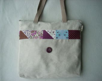 Hand bag fabric to wear with button shoulder ceramic plum