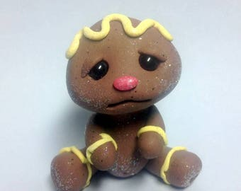 BAKE SALE Lemon Creme Frosting Baby Girl Gingerbread Trollfling by Amber Matthies