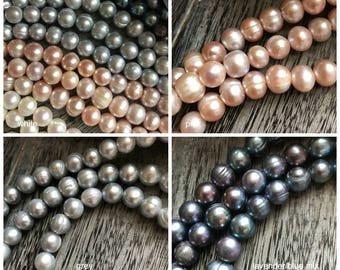 LARGE HOLE pearls, Choose Quantity & COLOR Large Hole Pearls, Large Hole Pearls, White Pearls, Large Hole Beads, Pearls, Leather and Pearls