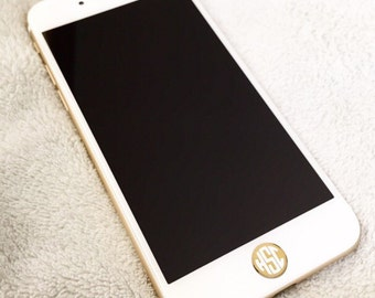 Monogrammed iPhone Home Button Decal