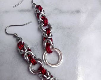 Byzantine Weave Chain Maille Earrings