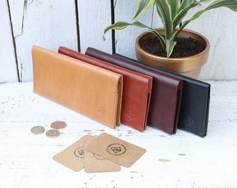 Leather wallet with 3 card pockets & zipped pocket for change