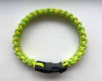 Mellow yellow Paracord 550 dog collar