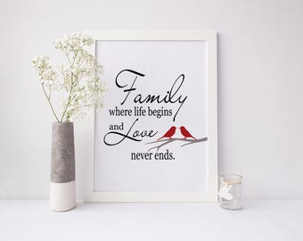 Family Wall Art - Family Print - Life Quote - Custom Family Print - Family Quote Print - Living Room Decor - Positive Quote