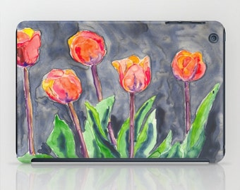Floral Tulips iPad Hard or Folio Case - Designer Device Cover