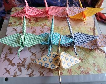 Handmade Origami Cranes - Set of 10