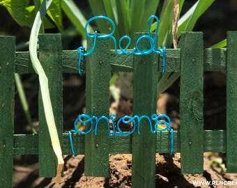 Wire Garden Markers / Herb Garden Markers / Vegetable Garden Markers / Gardener Gift / Garden Lover / Cute Garden Markers / Colorful Garden