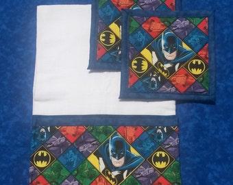 Batman Kitchen Towel & Potholders Set