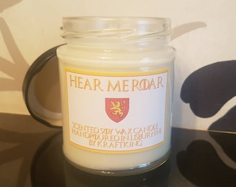 Hear me Roar - Scented Soy Wax Candle 8oz Container
