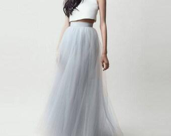 Tulle Long Skirt custom made for you