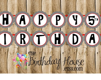 Yo Ho Pirates Birthday Party Banner - Custom Pirate Banner by The Birthday House