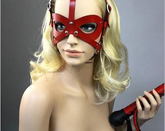 Leather cat mask, Catwoman Mask, Leather Party Mask, Masquerade Mask, Leather BDSM Mask, Fetish Mask, Petplay Mask, Kitten mask, Cat ears